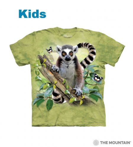 Lemur & Butterflies - Kids Animal T-shirt - The Mountain®